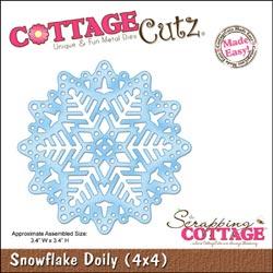 48416-2-Scrapping-Cottage-Cottage-Cutz-Matrice-de-decoupe-4x4-Snowflake-Doily