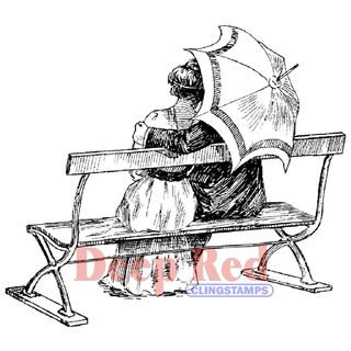 53816-12-Deep-Red-Stamps-Etampe-en-caoutchouc-cling-Love-Bench