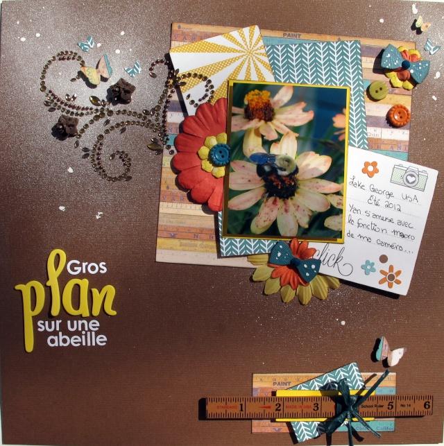 Violette_Composition and colours_Gros plan sur une abeille