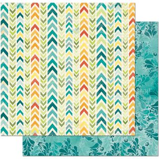 52847-3-BoBunny-Papier-a-motifs-recto-verso-12-x12-Collection-Key-Lime-Makin-Waves