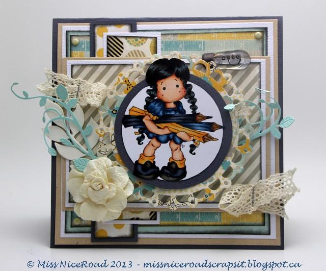 Miss NiceRoad_Park Bench_Autumn Tilda with pencils