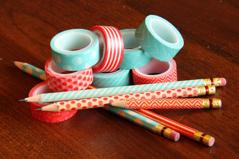 Crayon washi tape