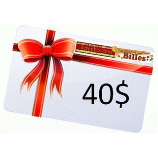 Carte-cadeau 40$