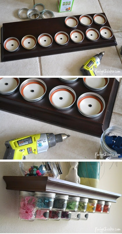 Pots massons + étagère (Stacy)