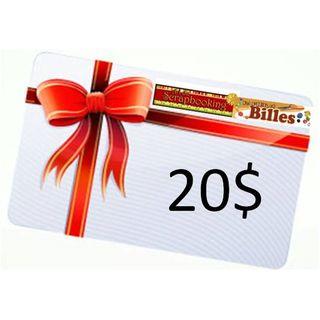 Carte cadeau 20$