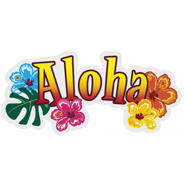 Decoration-pvc-aloha-28x28cm